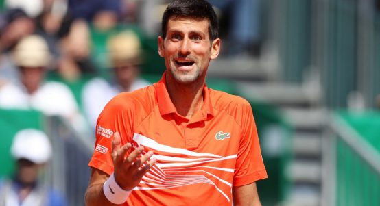 Novak Djokovic frustrated