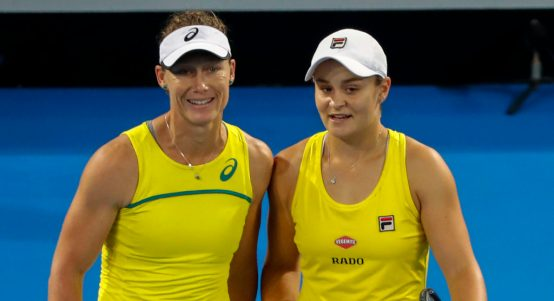 Samantha Stosur and Ashleigh Barty