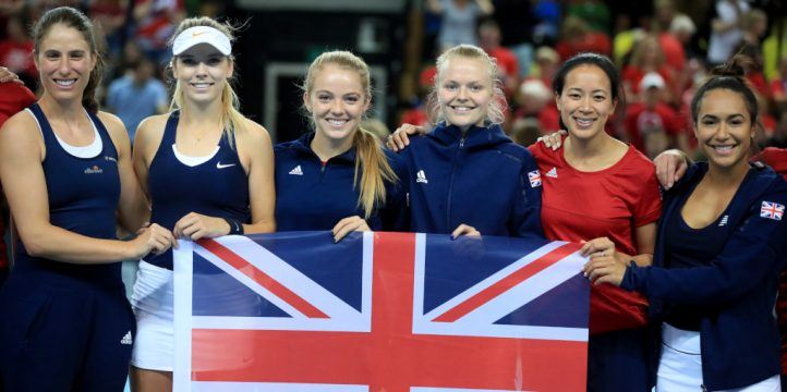 Great Britain Fed Cup squad - PA