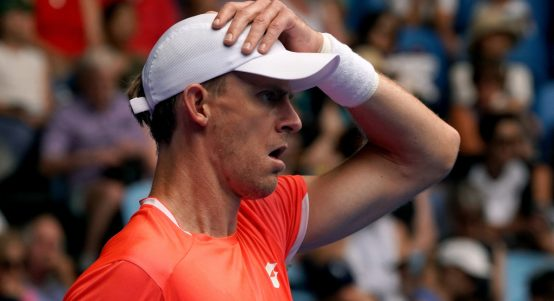 Kevin Anderson in action