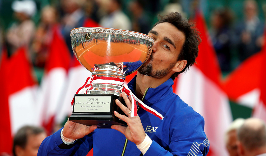 Fabio Fognini with Monte-Carlo Masters trophy
