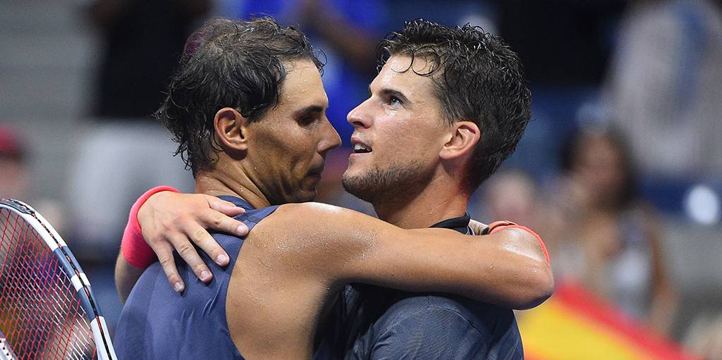 Dominic Thiem and Rafael Nadal PA