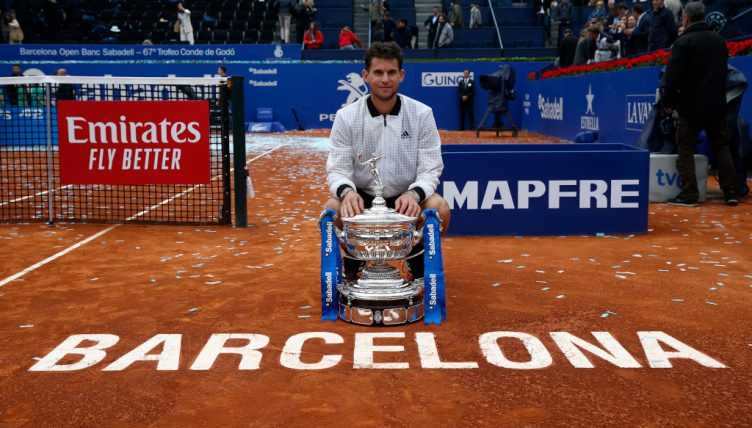 Dominic Thiem with Barcelona Open trophy
