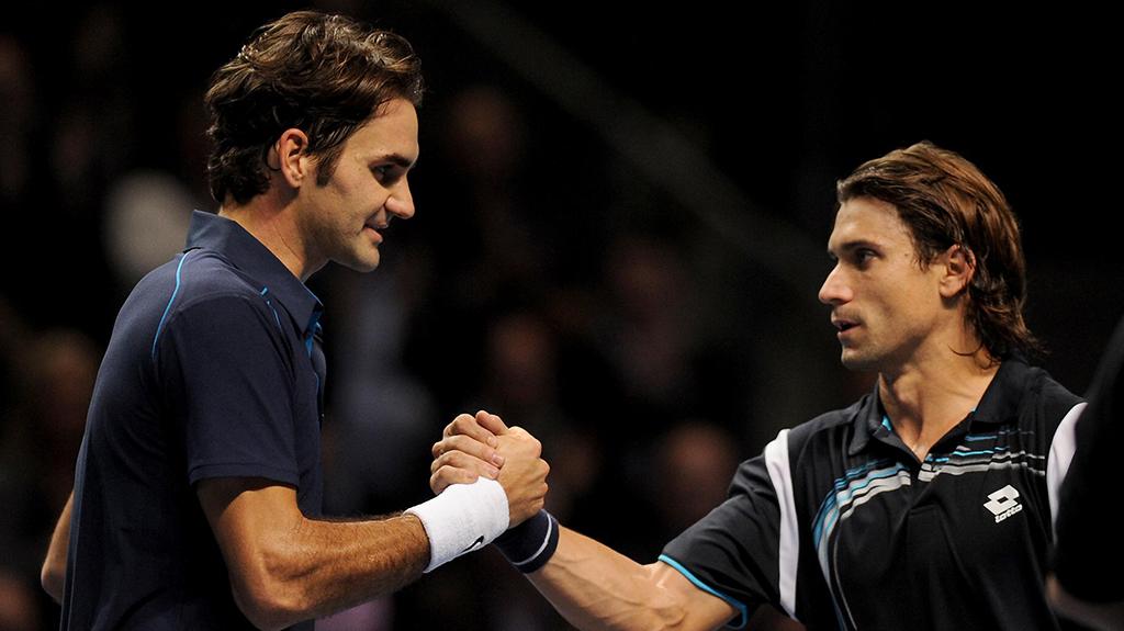 David Ferrer and Roger Federer PA