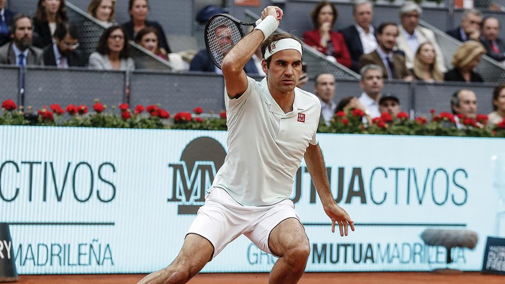 Roger Federer at Madrid Open PA