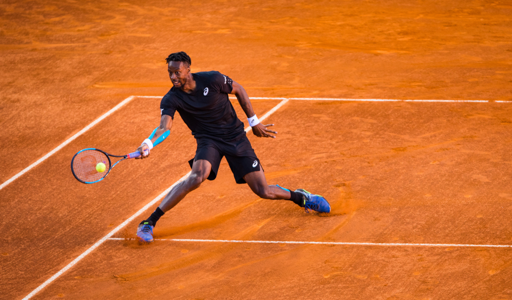 Gael Monfils on the run