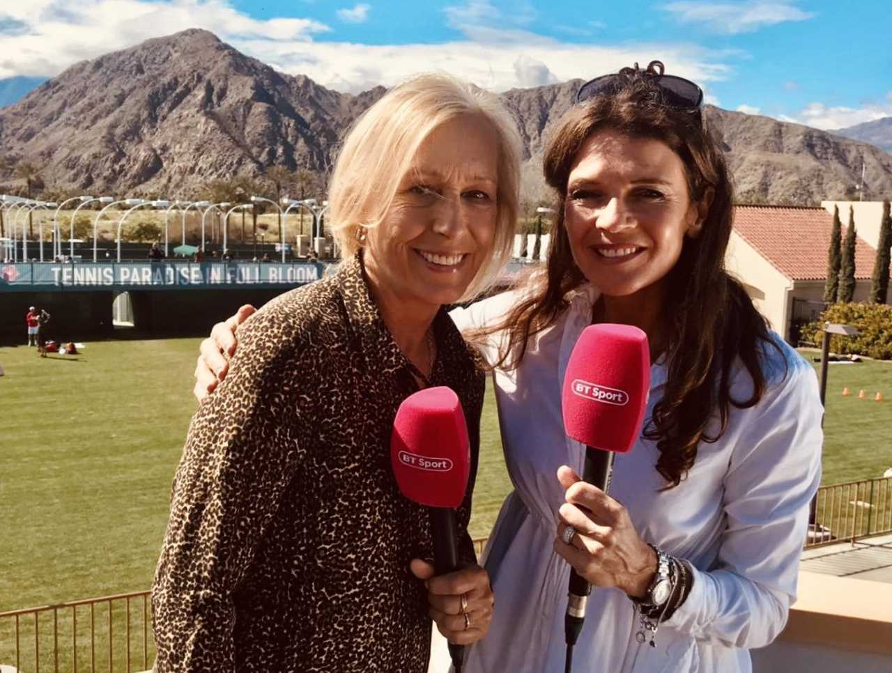 Annabel Croft and Martinal Navratilova