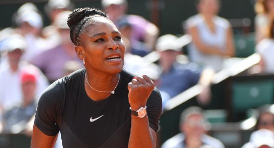 Serena Williams in action