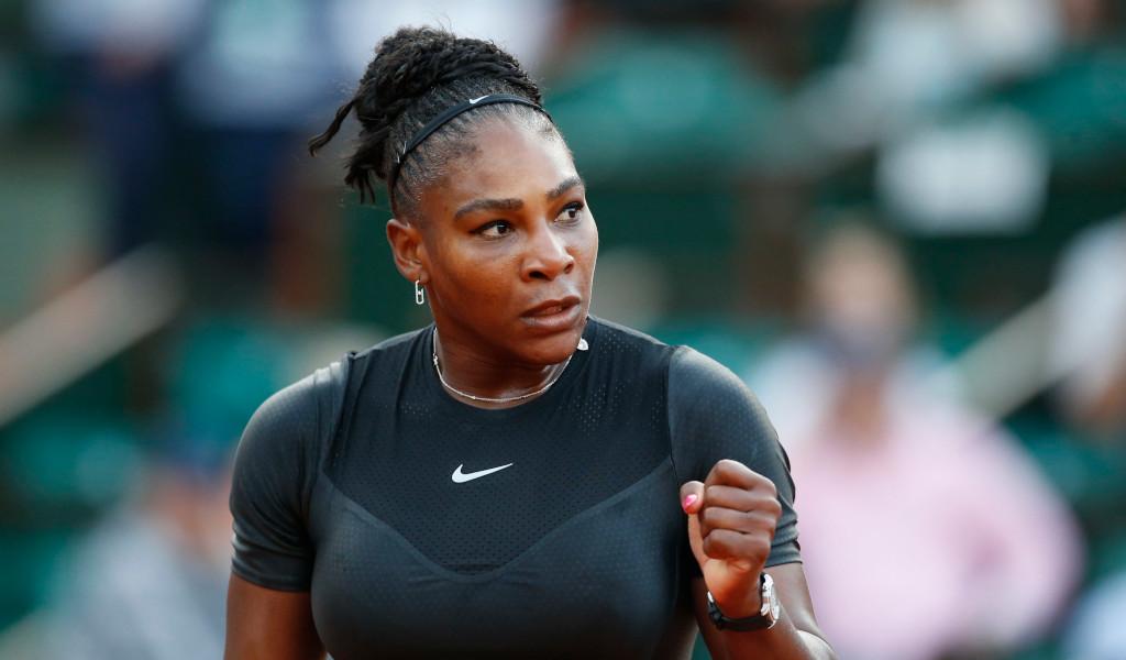 Serena Williams fist pump