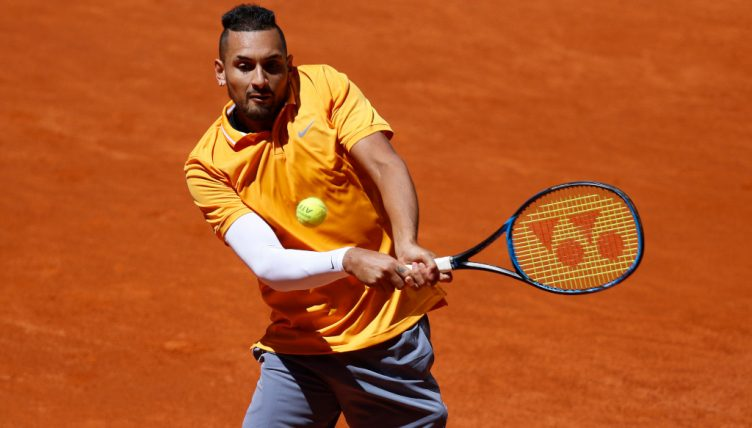 Nick Kyrgios on clay