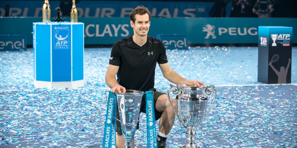 Andy Murray ATP Finals and World No 1 trophies