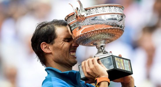Rafael Nadal Roland Garros French Open trophy