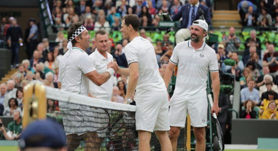 Pat Cash, Lleyton Hewitt, Goran Ivanisevic and Jamie Murray