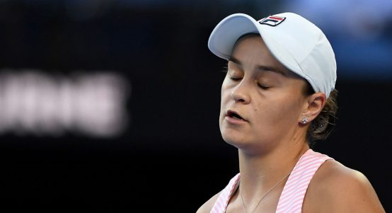 Ashleigh Barty disappointed