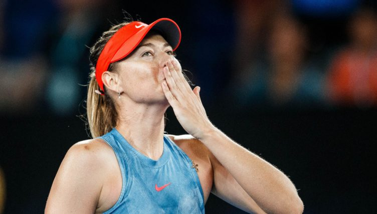 Maria Sharapova blowing kisses