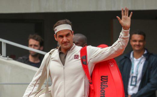 Roger Federer entrance