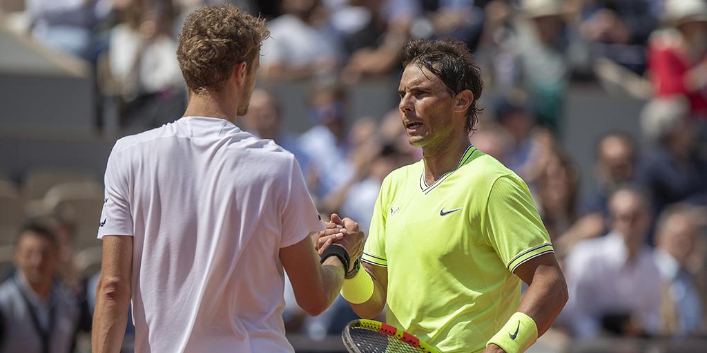 Rafael Nadal and Yannick Hanfmann PA