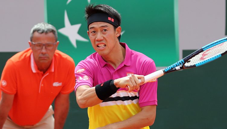 Kei Nishikori at French Open PA