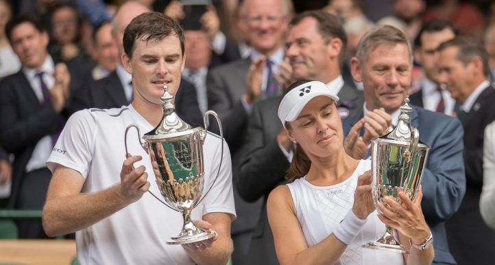 Jamie Murray and Martina Hingis at Wimbledon