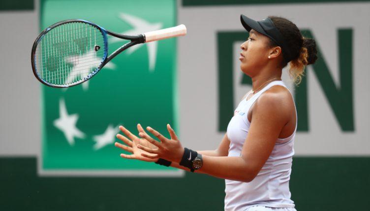 A frustrated Naomi Osaka