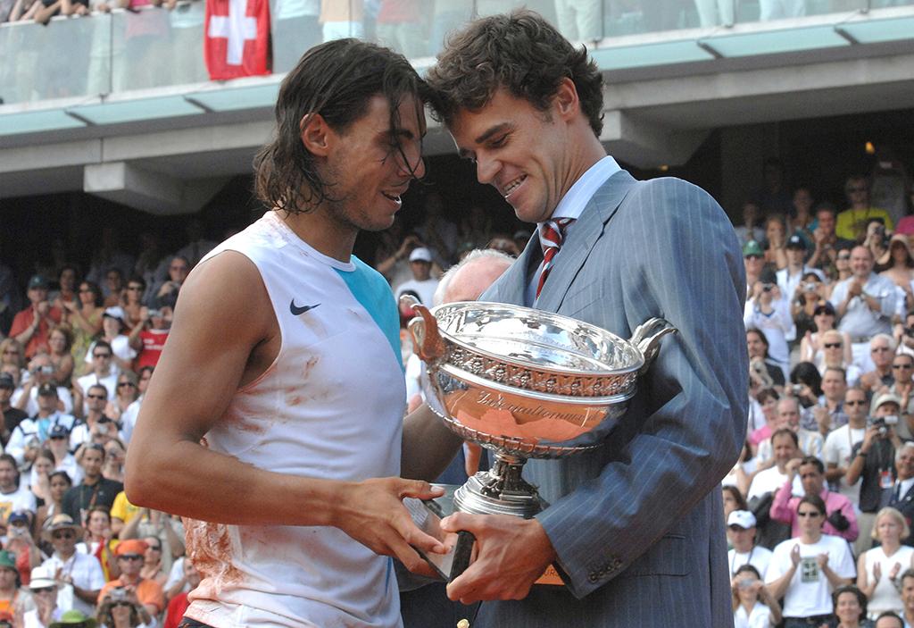 Gustavo Kuerten and Rafael Nadal PA