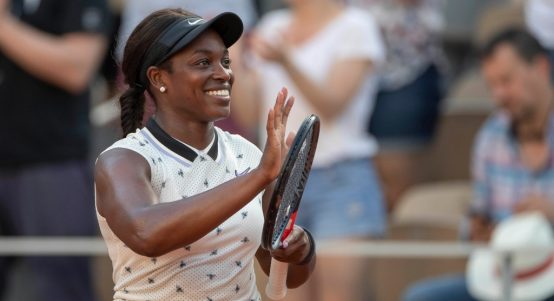Sloane Stephens applauding