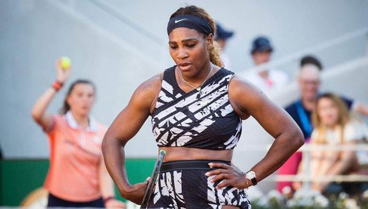 Serena Williams dejected at French Open PA