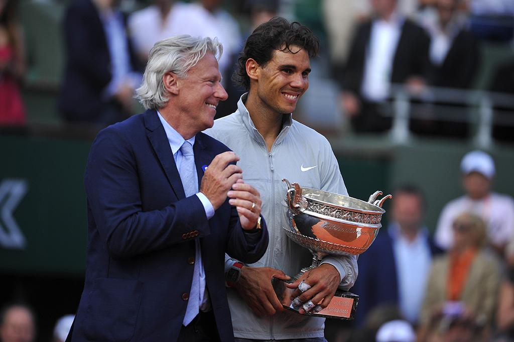 Bjorn Borg with Rafael Nadal PA