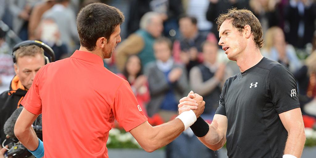 Novak Djokovic and Andy Murray PA
