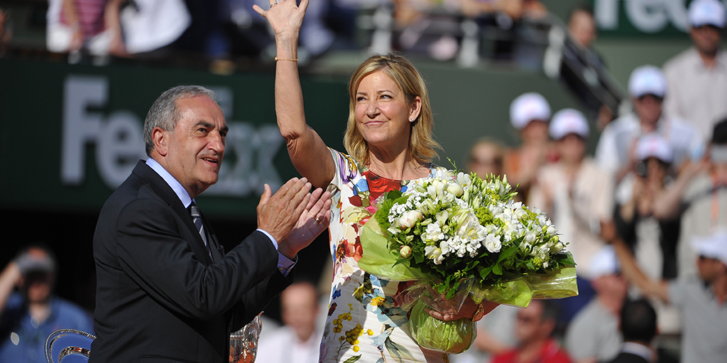 Chirs Evert at French Open PA