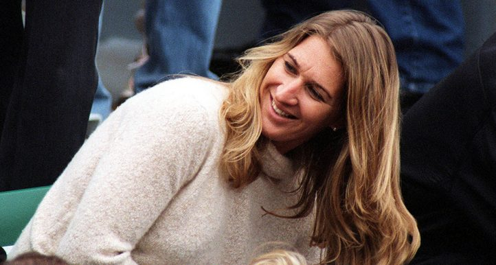 Steffi Graf in the crowd PA