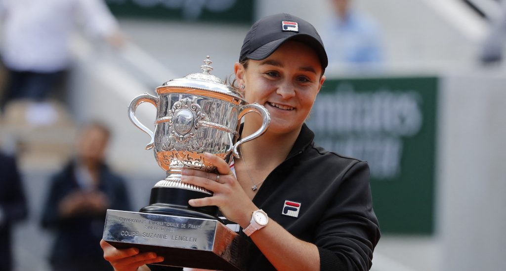 Ashleigh Barty Roland Garros French Open champion