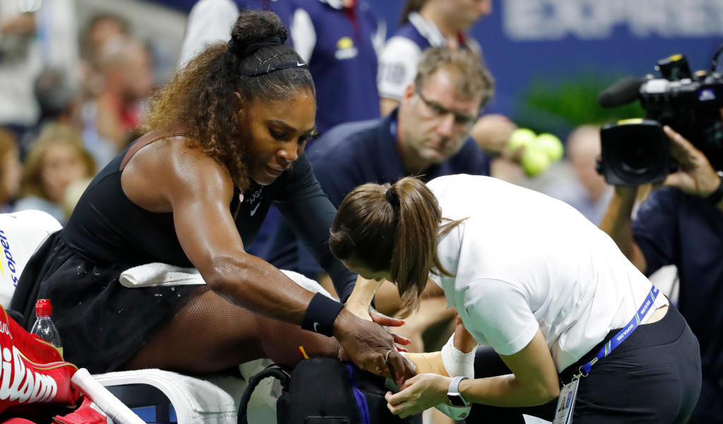 Serena Williams injured