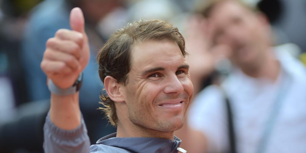 Rafael Nadal thumbs up