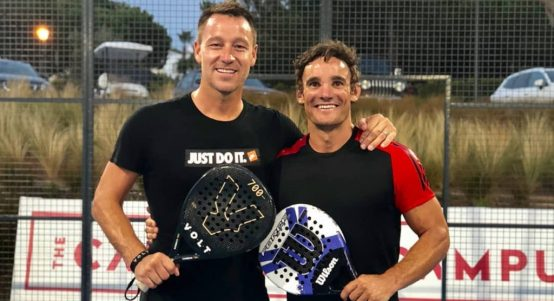 John Terry and Max Evans padel
