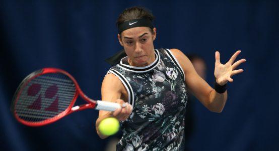 Caroline Garcia forehand