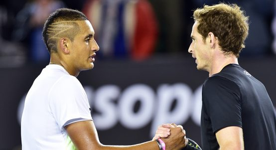 Andy Murray and Nick Kyrgios PA