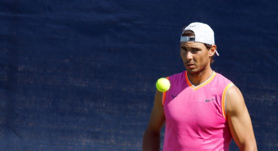 Rafael Nadal training