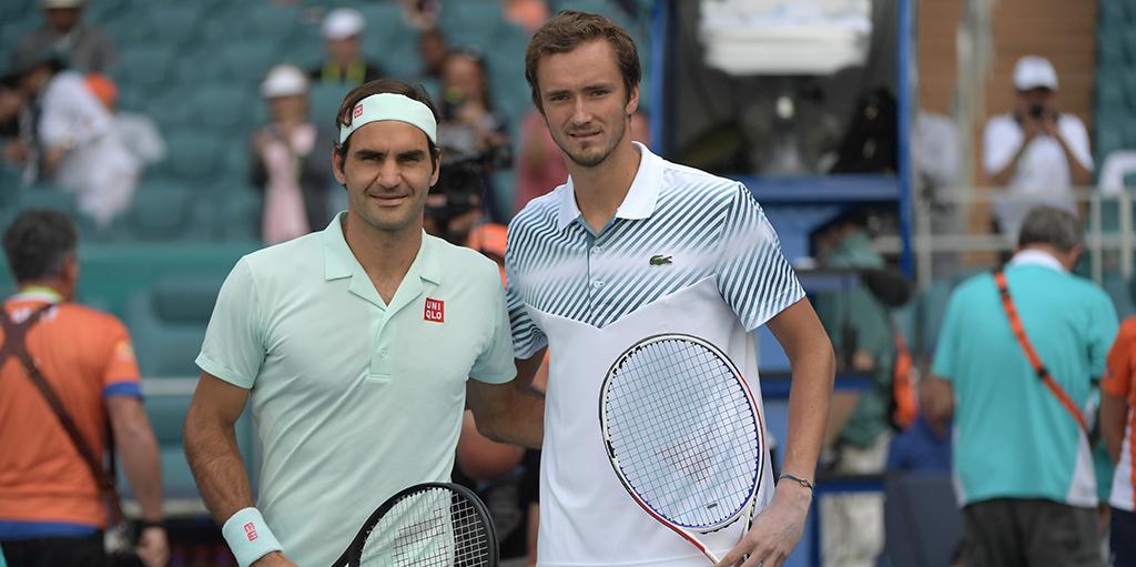 Daniil Medvedev and Roger Federer PA