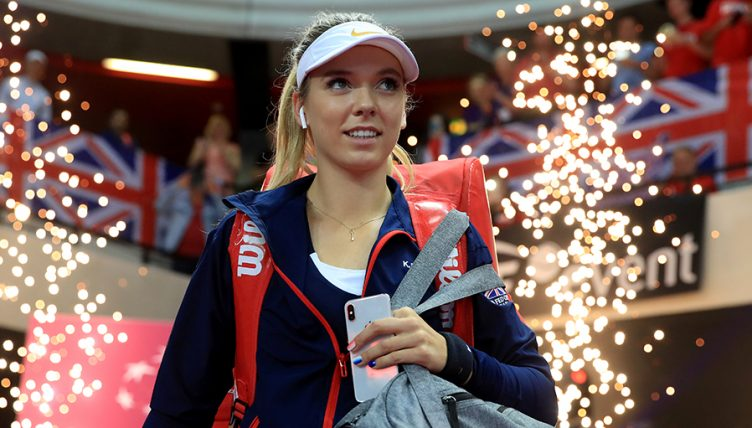 Katie Boulter at Fed Cup PA