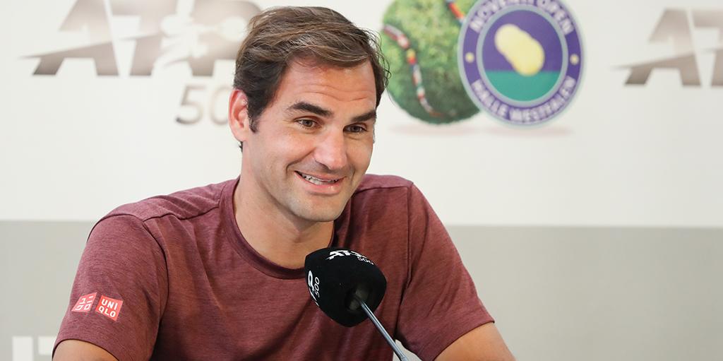 Roger Federer Halle press conference PA