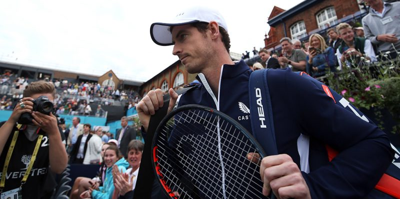 Andy Murray with fans at Queen's