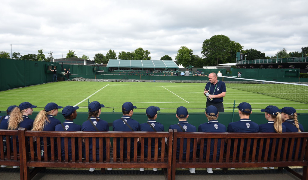 Wimbledon ball kids