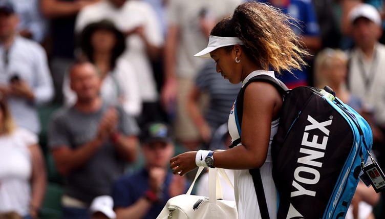 Noami Osaka loses at Wimbledon