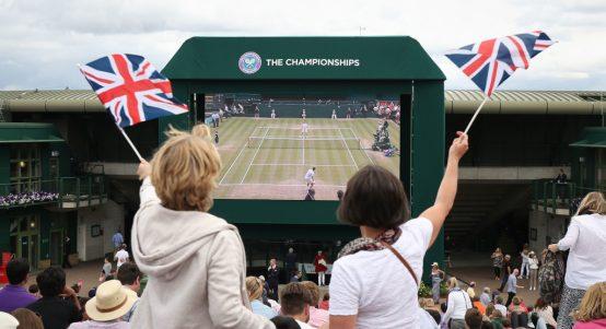 Wimbledon big screen Murray Mound