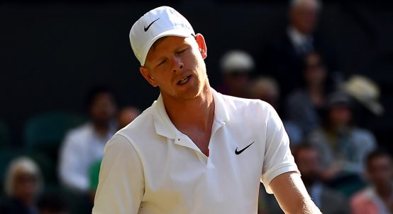 Kyle Edmund distraught at Wimbledon