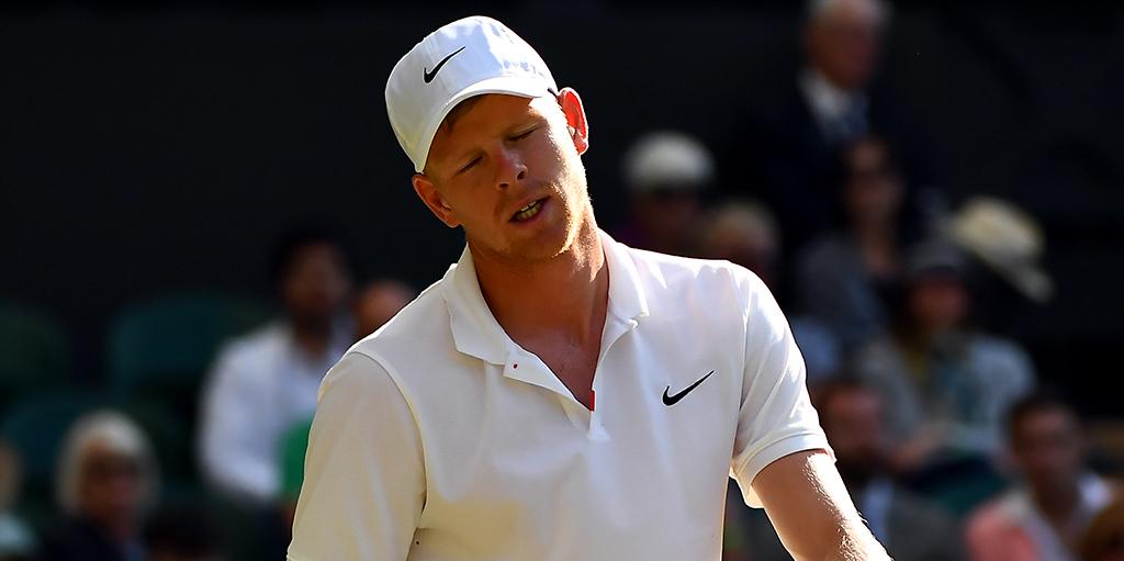 Kyle Edmund distraught at Wimbledon