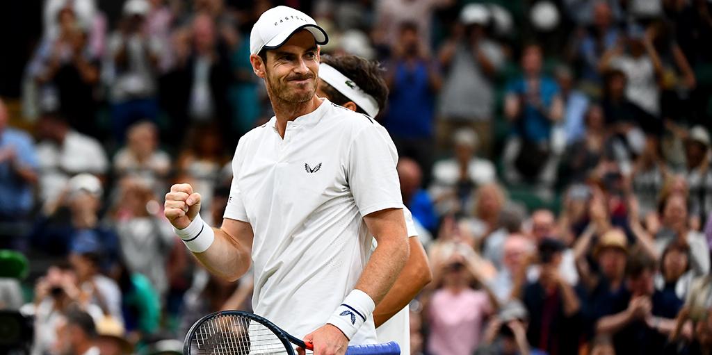 Andy Murray fist pump at Wimbledon