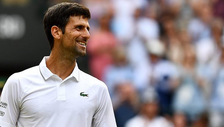 Novak Djokovic smiling