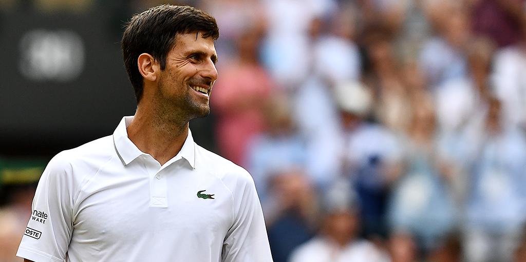 Novak Djokovic smiling